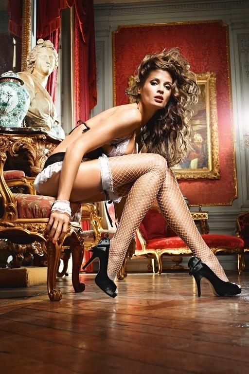 Игровые чулки «White French Maid» (Фото 1)