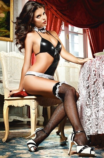 Игровые чулки «Devious French Maid»