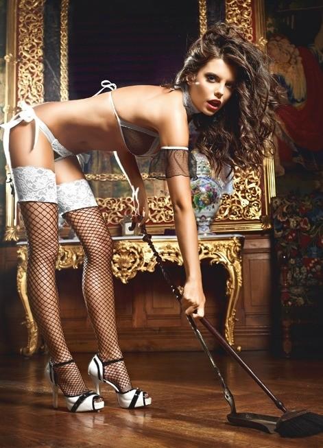 Игровые чулки «Five Star French Maid» арт.BL1345