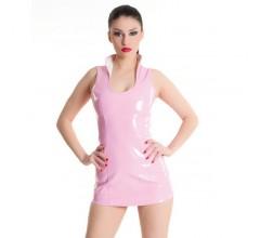 Лаковое платье с розовой шнуровкой «Erolanta»