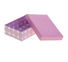 Подарочная коробка Сиреневый Горох 20х12 см. арт.1036524