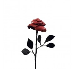 Роза кожаная красная арт.ООО2