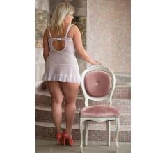 Комбинация и трусики «Bianca White Plus Size» (Фото 1)