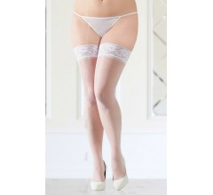 Чулки «Soft Line White Plus Size»