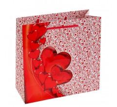 Пакет подарочный «Карминовое сердце»