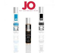 Набор лубрикантов «JO» - водный, силиконовый и съедобный