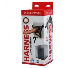 Кожаные трусики с насадкой «Harness Ultra Realistic 7» арт.630603