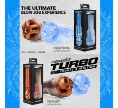 Мастурбатор «FleshLight Turbo THRUST Blue Ice» голубой лед (Фото 3)