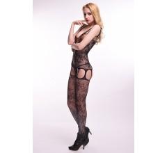 Кэтсьюит с имитацией корсетной шнуровки и подвязок «Femme Fatale» (Фото 2)