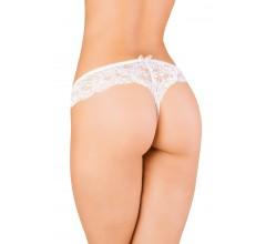 Кружевные стринги с интимным вырезом «Erolanta White» (Фото 1)
