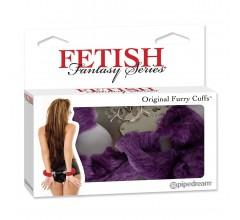 Металлические наручники с мехом «Fetish Fantasy Series Original Furry Cuffs»
