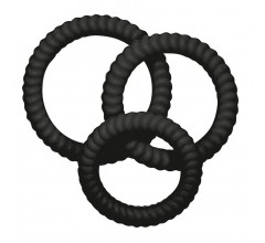 Набор силиконовых колец «Lust³ Black» (Фото 1)