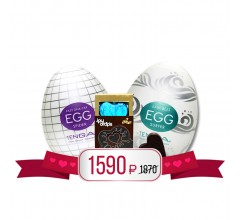Подарочный набор «Яйца Tenga и стимулирующий шоколад»