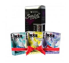 Подарочный набор «Духи Sexy Life для мужчин и стимулирующие презервативы»