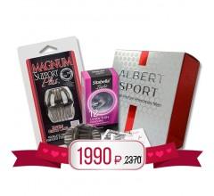Подарочный набор «Духи с феромонами, насадка и презервативы»