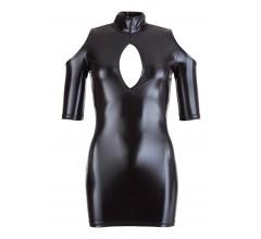 Мини-платье wetlook с вырезом «Cottelli Collection Party» (Фото 2)