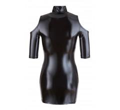 Мини-платье wetlook с вырезом «Cottelli Collection Party» (Фото 3)