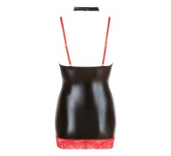 Лаковое платье на бретелях с секретом «Red Corner» (Фото 5)