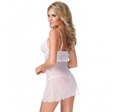 Сорочка с кружевным лифом и трусики «Kissable» (Фото 2)