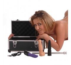 Секс-машина в чемодане «Tool Box» с двумя насадками и вибратором (Фото 2)