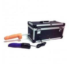 Секс-машина в чемодане «Tool Box» с двумя насадками и вибратором