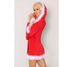 Новогоднее платье с капюшоном «Monisa» (Фото 2)