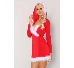 Новогоднее платье с капюшоном «Monisa»