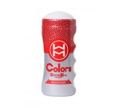 Многоразовый мастурбатор в тубе «Men'sMax Colors Branch Red»