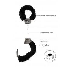 Металлические наручники с меховой опушкой «Beginner's Handcuffs Furry» (Фото 1)