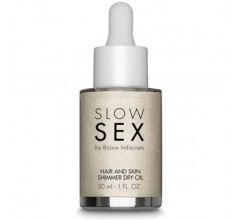 Мерцающее масло-шиммер для волос и тела «Slow Sex Hair And Skin Shimmer Dry Oil» (Фото 1)