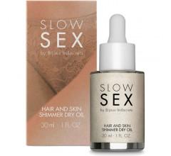 Мерцающее масло-шиммер для волос и тела «Slow Sex Hair And Skin Shimmer Dry Oil»