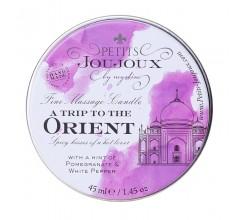 Массажная свеча с ароматом граната и белого перца «Petits JouJoux A Trip To Orient» (Фото 2)