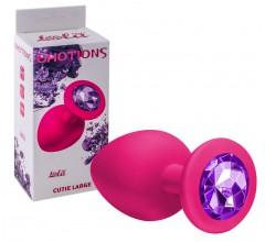 Розовая анальная пробка с кристаллом «EMOTIONS CUTIE LARGE»