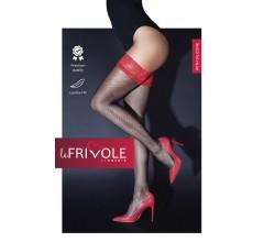 Чулки с кружевной резинкой на силиконе «Le Frivole» (Фото 1)