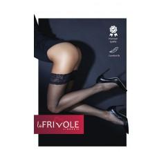 Чулки в мелкую сетку с кружевной резинкой «Le Frivole» (Фото 1)