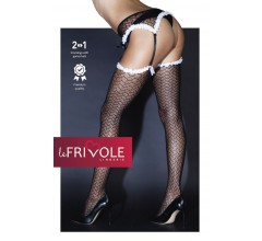 Чулки с поясом и белой окантовкой «Le Frivole» (Фото 1)