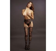 Стрип-панти «Suspender Striped Pantyhose» (Фото 1)