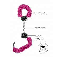 Металлические наручники с меховой опушкой «Pleasure Handcuffs Furry» (Фото 1)