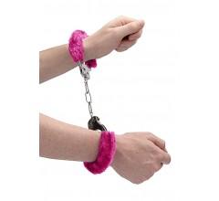 Металлические наручники с меховой опушкой «Pleasure Handcuffs Furry» (Фото 3)