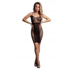 Сексуальное платье «Knee-Length Lace and Fishnet Dress»