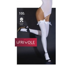 Белые чулки с атласными бантами «Le Frivole» (Фото 1)