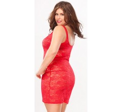 Платье из гипюра «RED HEART» (Фото 1)