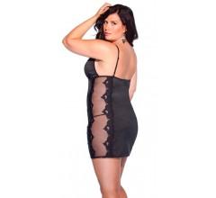 Черное платье с рисунком «Coquette» (Фото 1)