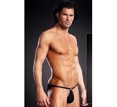 Мужские pouch-бикини «Blue Line Black» арт.BLM022