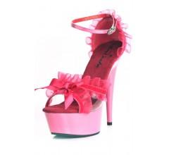 Стрип обувь с рюшами «Erolanta Pink»