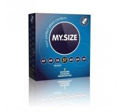 Презервативы «MY.SIZE 57» немного увеличенные